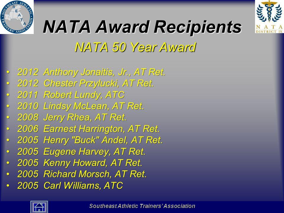 NATA Award Recipients NATA 50 Year Award