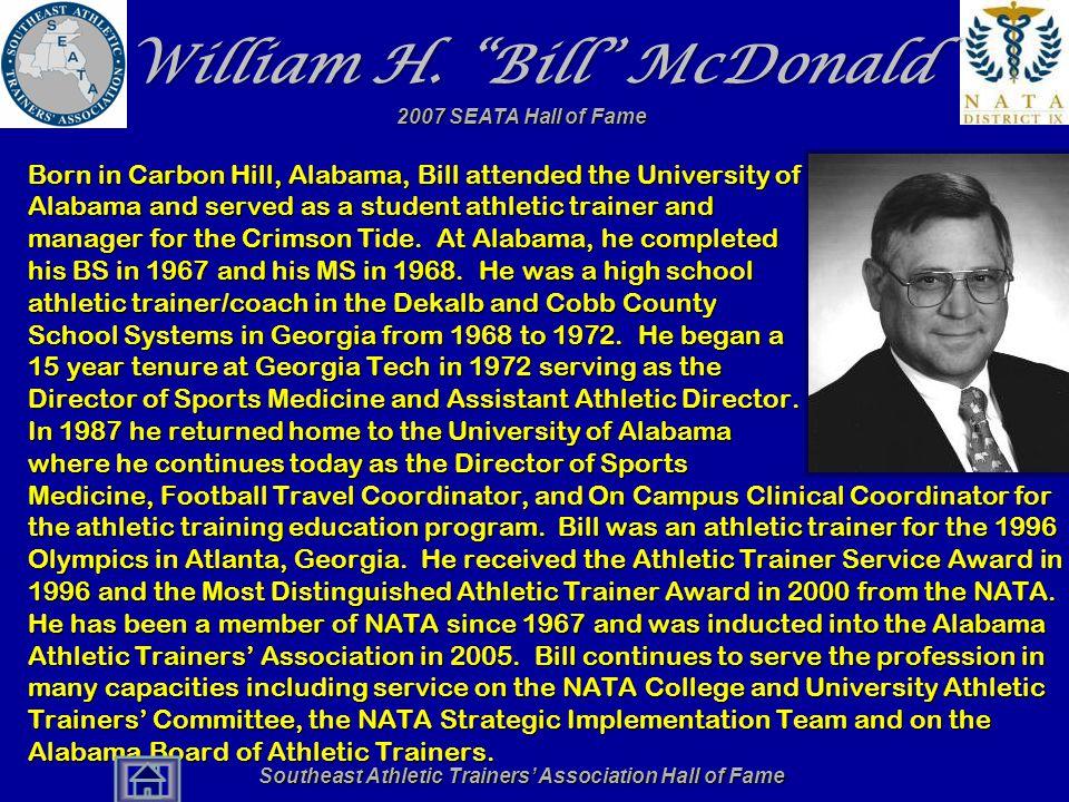 William H. Bill McDonald