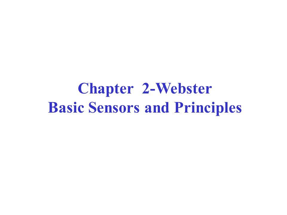 Basic Sensors and Principles