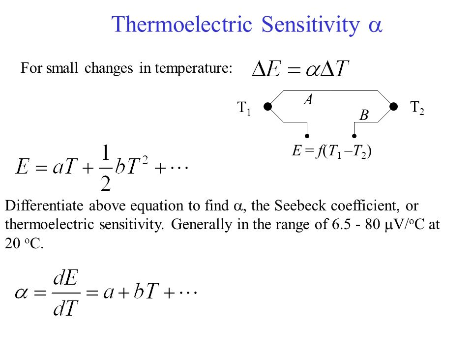 Thermoelectric Sensitivity 