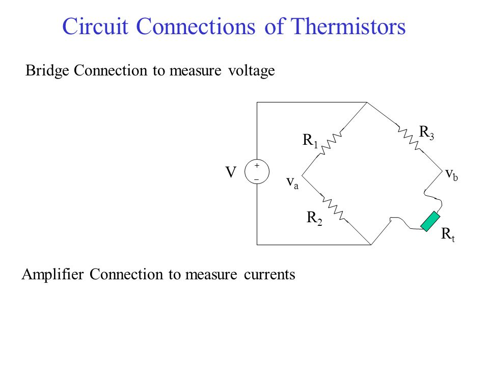 Circuit Connections of Thermistors
