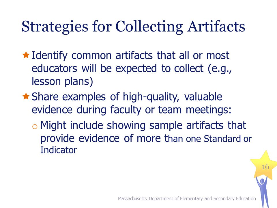 Strategies for Collecting Artifacts