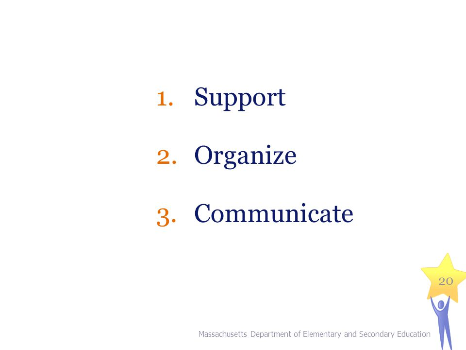 Support Organize Communicate Explain: