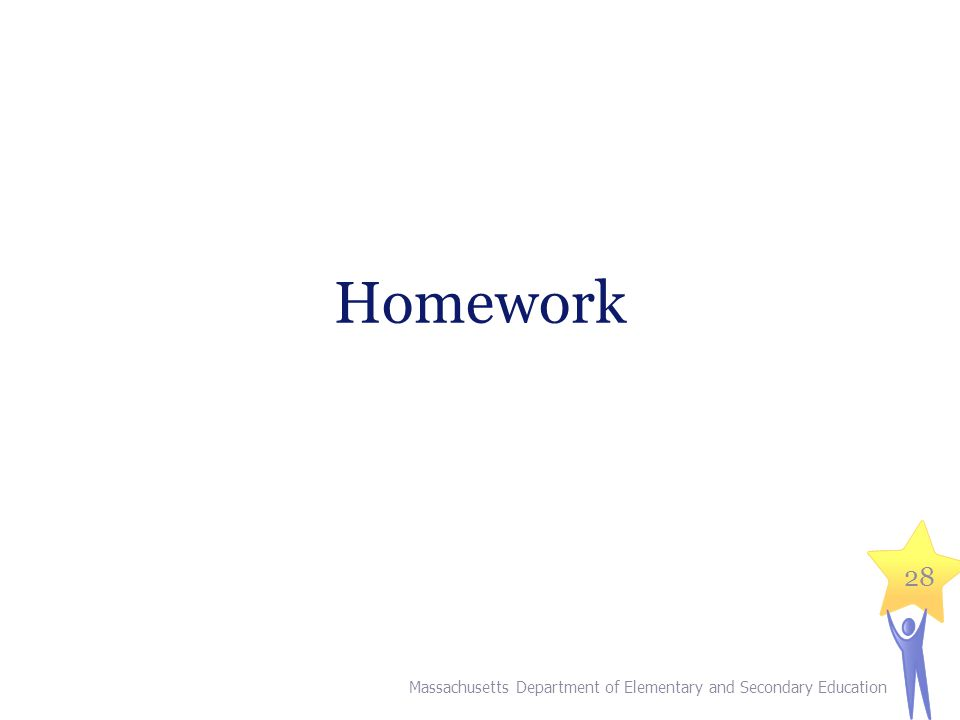 Homework Slide 33 is the title slide for the homework section.