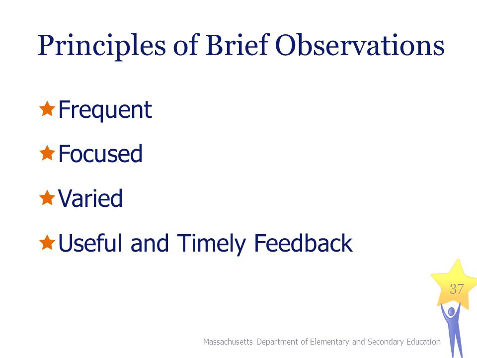 Principles of Brief Observations