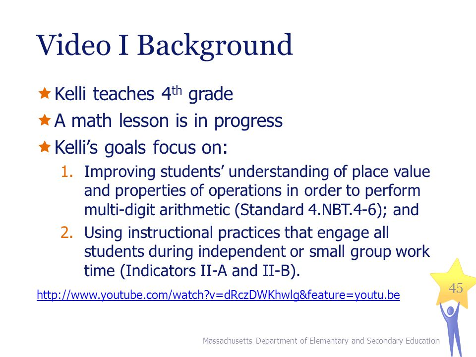 Video I Background Kelli teaches 4th grade