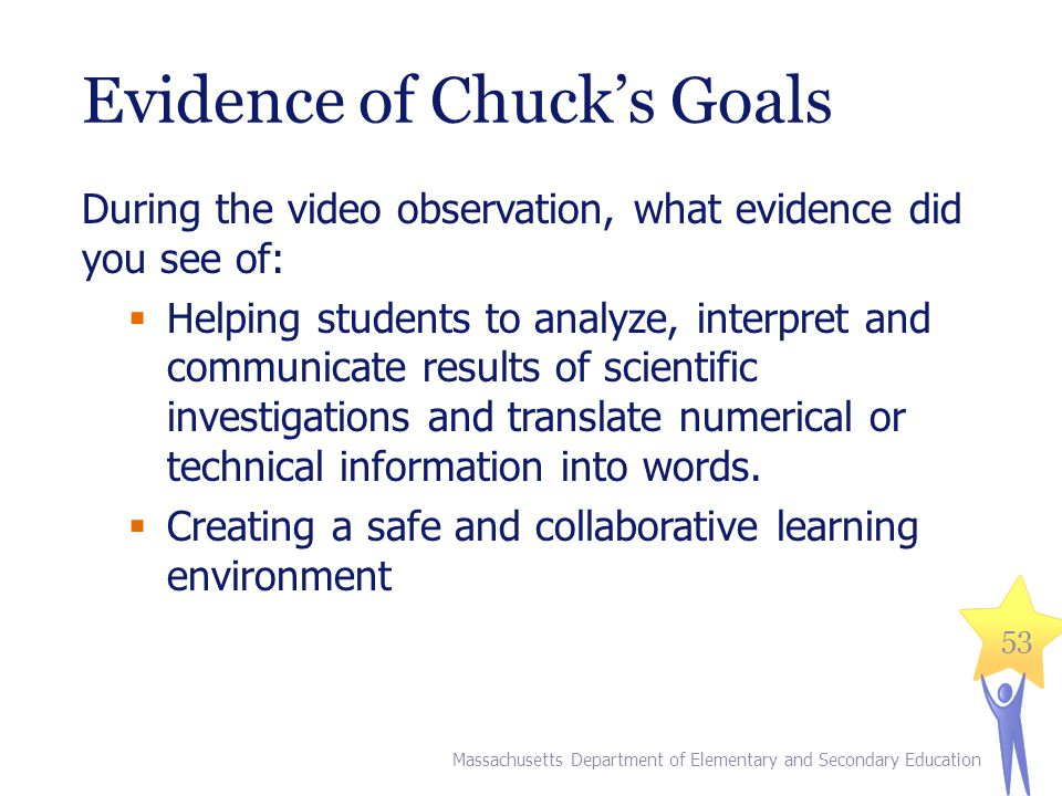 Evidence of Chuck's Goals