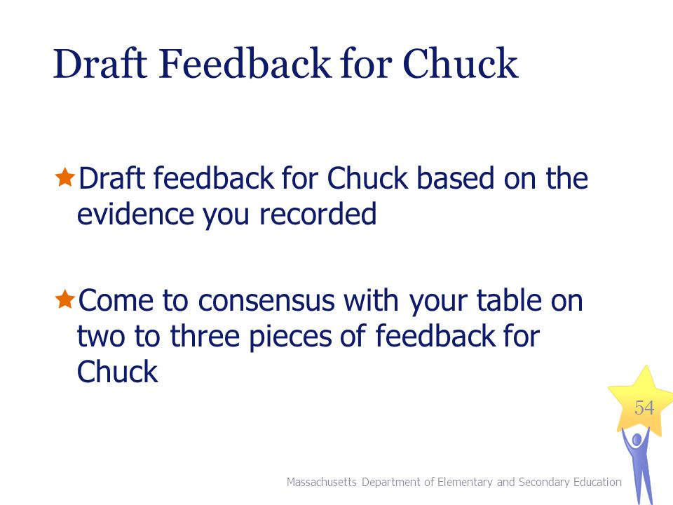 Draft Feedback for Chuck