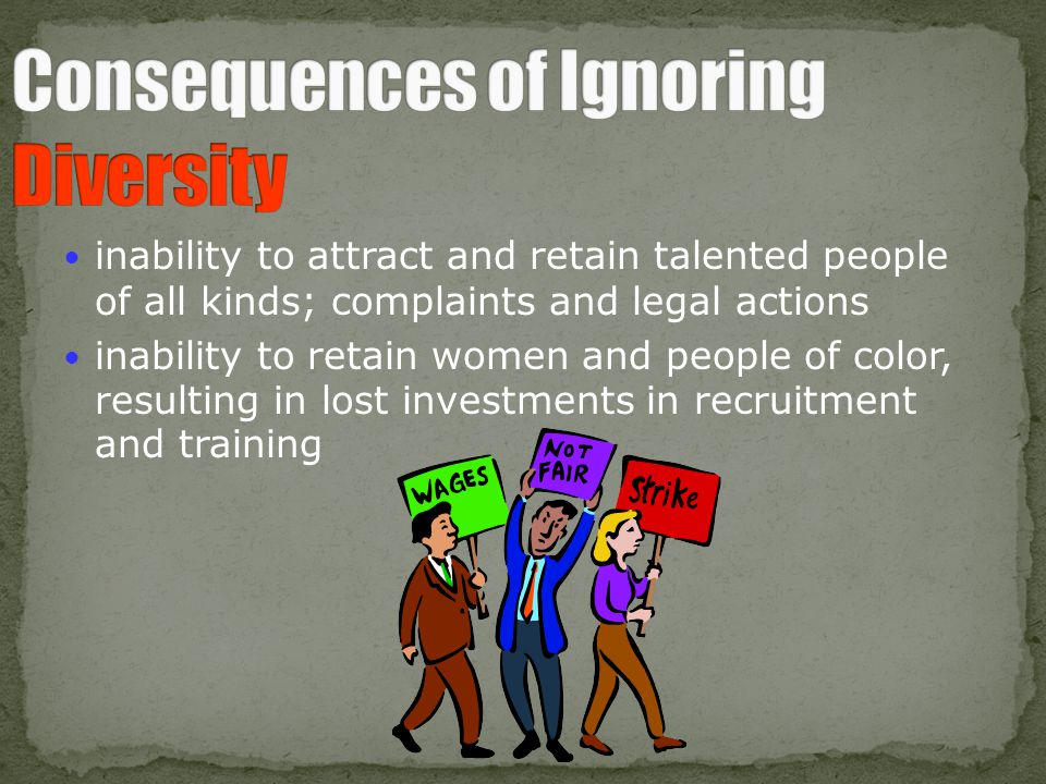 Consequences of Ignoring Diversity
