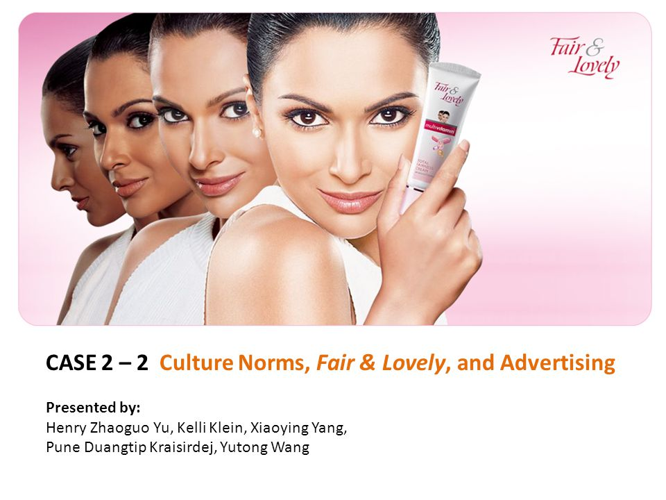 case study fair lovely Doing well by doing good - case study: 'fair & lovely' whitening cream ross school of business working paper no 1063 case study of.