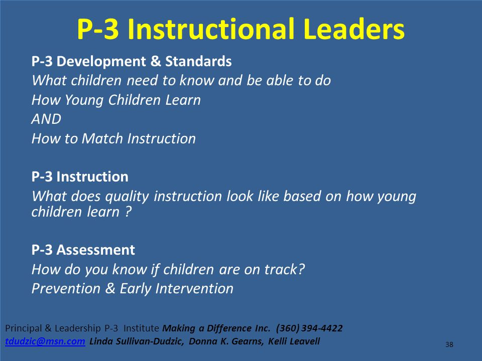 P-3 Instructional Leaders