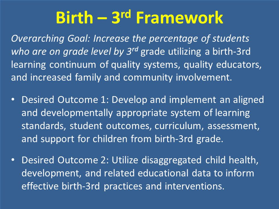 Birth – 3rd Framework