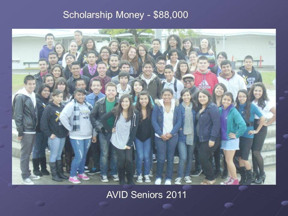 Scholarship Money - $88,000 AVID Seniors 2011
