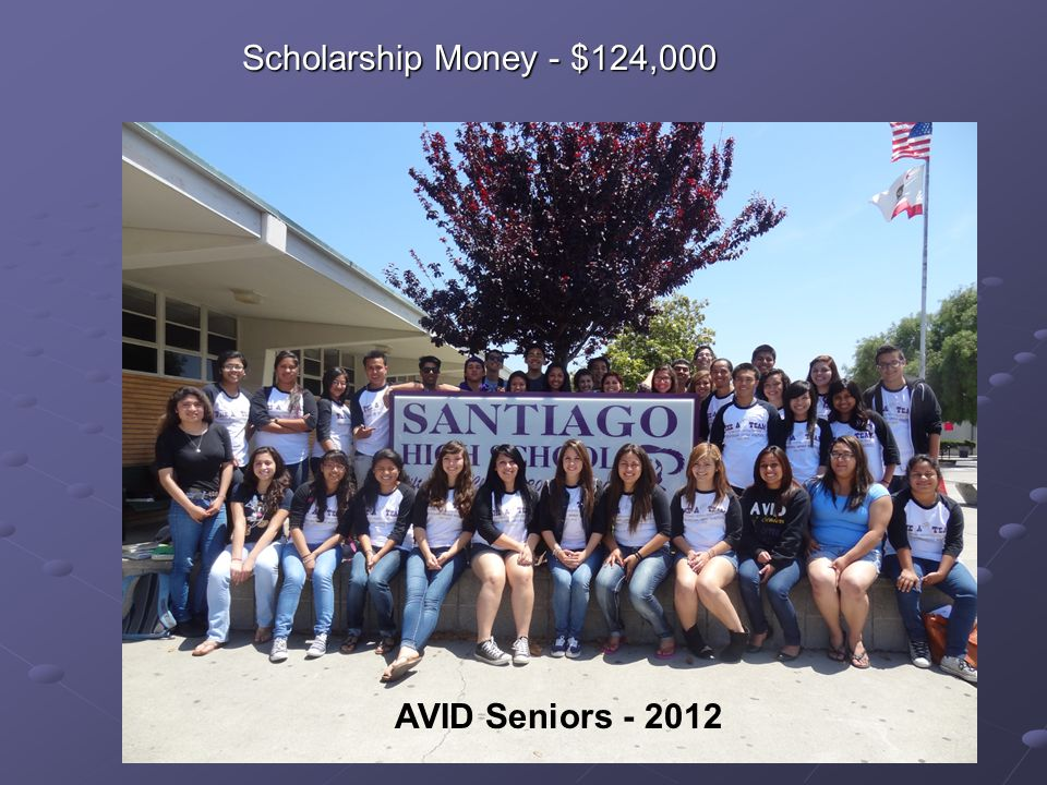 Scholarship Money - $124,000 AVID Seniors - 2012
