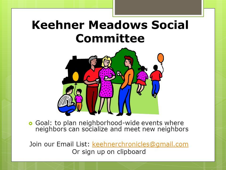 Keehner Meadows Social Committee