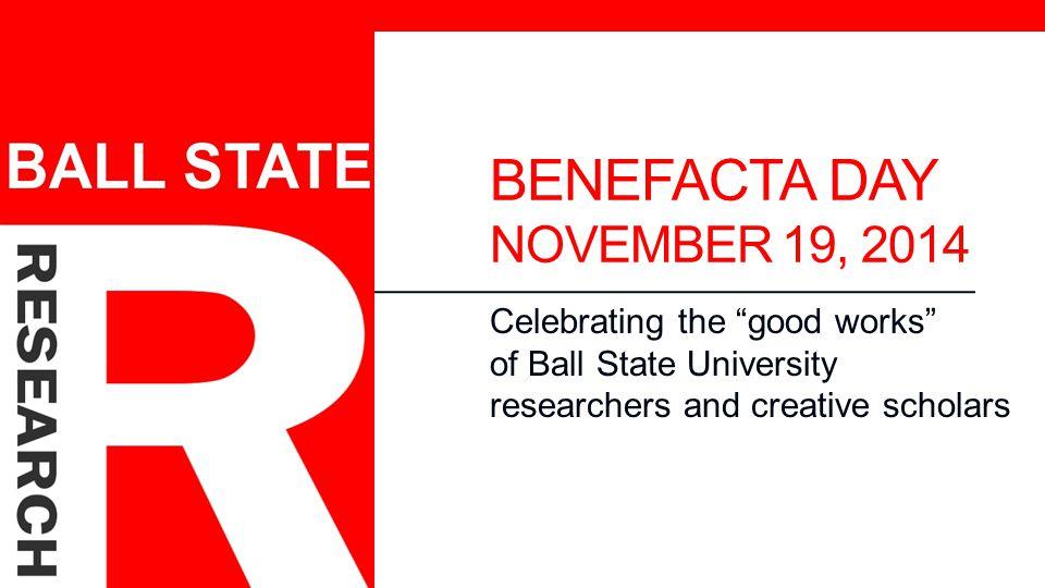 BENEFACTA DAY NOVEMBER 19, 2014