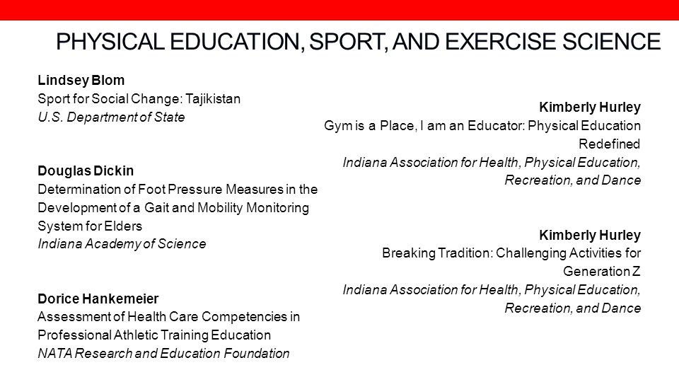 PHYSICAL EDUCATION, SPORT, AND EXERCISE SCIENCE