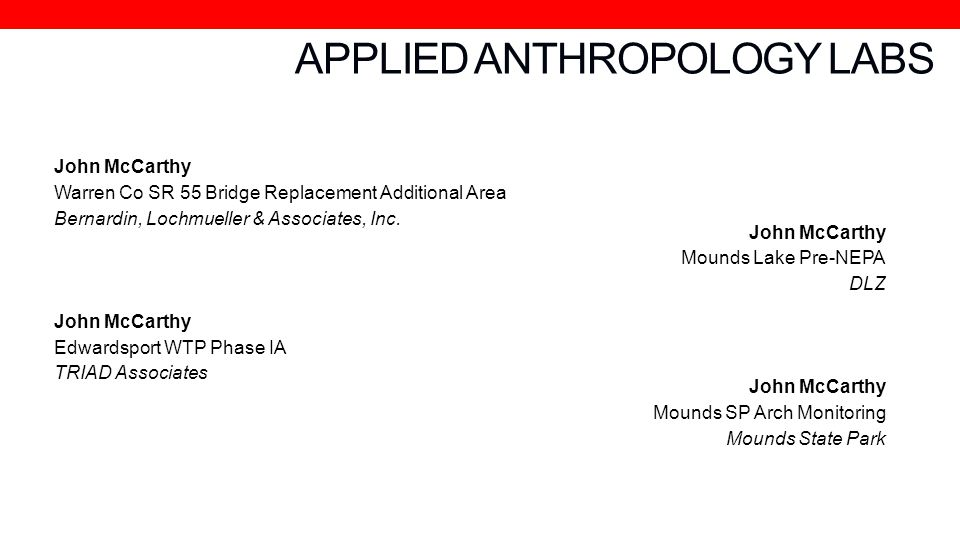 APPLIED ANTHROPOLOGY LABS