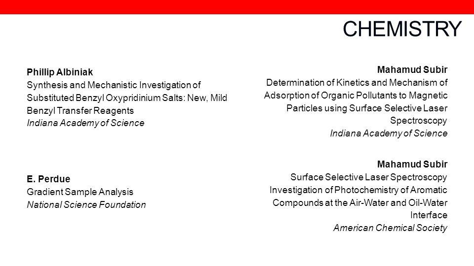 CHEMISTRY Mahamud Subir Phillip Albiniak