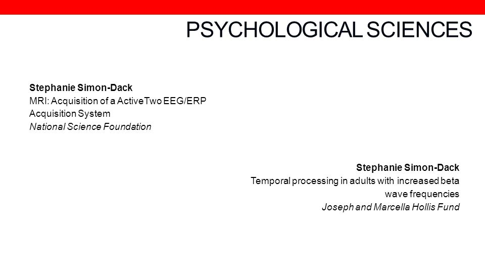 PSYCHOLOGICAL SCIENCES