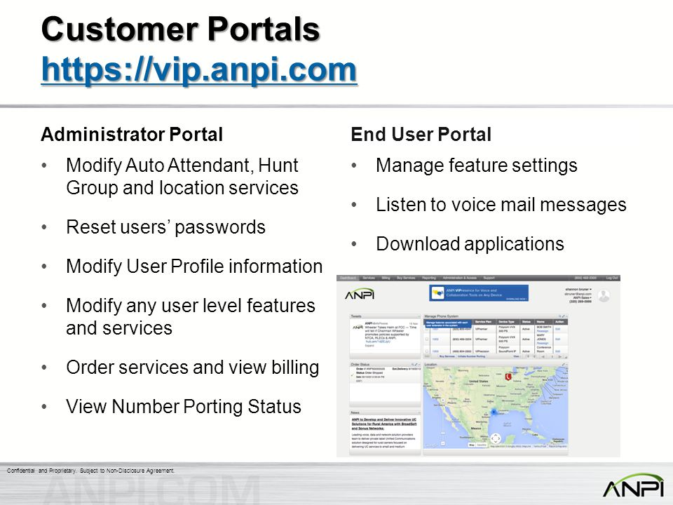 Customer Portals https://vip.anpi.com