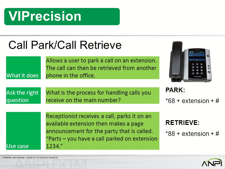 Call Park/Call Retrieve