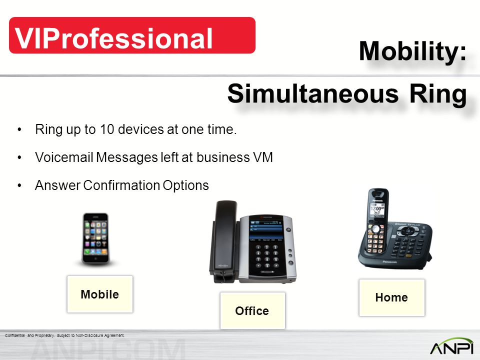 Mobility: Simultaneous Ring Ring up to 10 devices at one time.