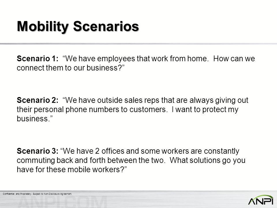 Mobility Scenarios
