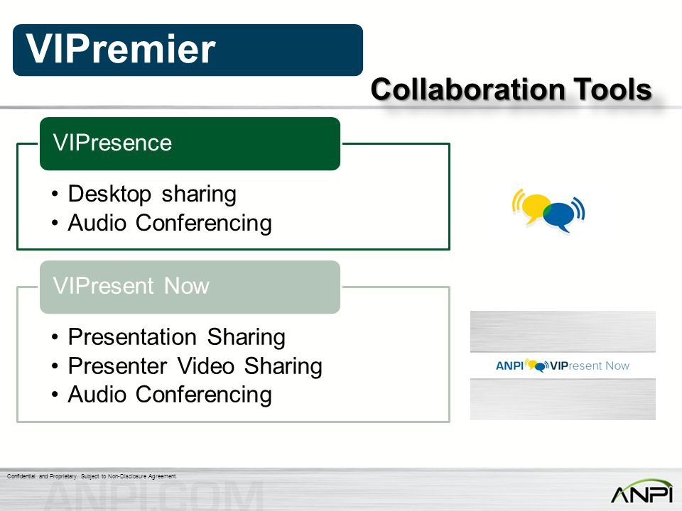 Collaboration Tools Desktop sharing Audio Conferencing VIPresence