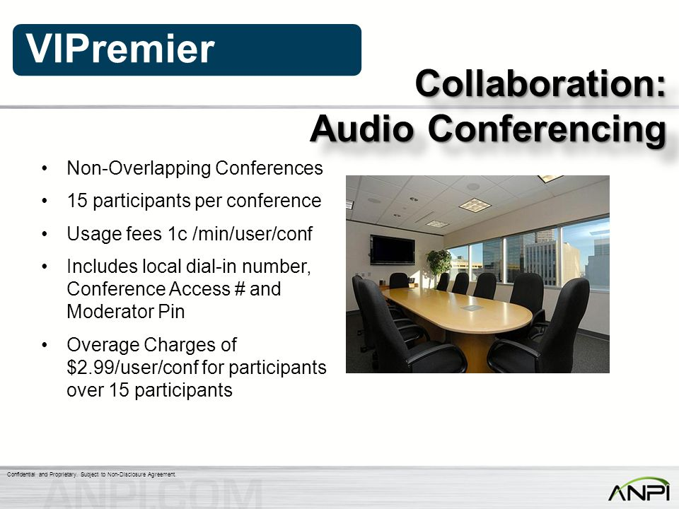 Audio Conferencing Collaboration: Non-Overlapping Conferences