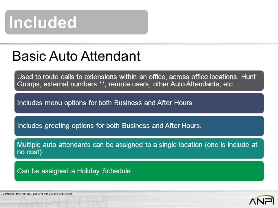 Basic Auto Attendant