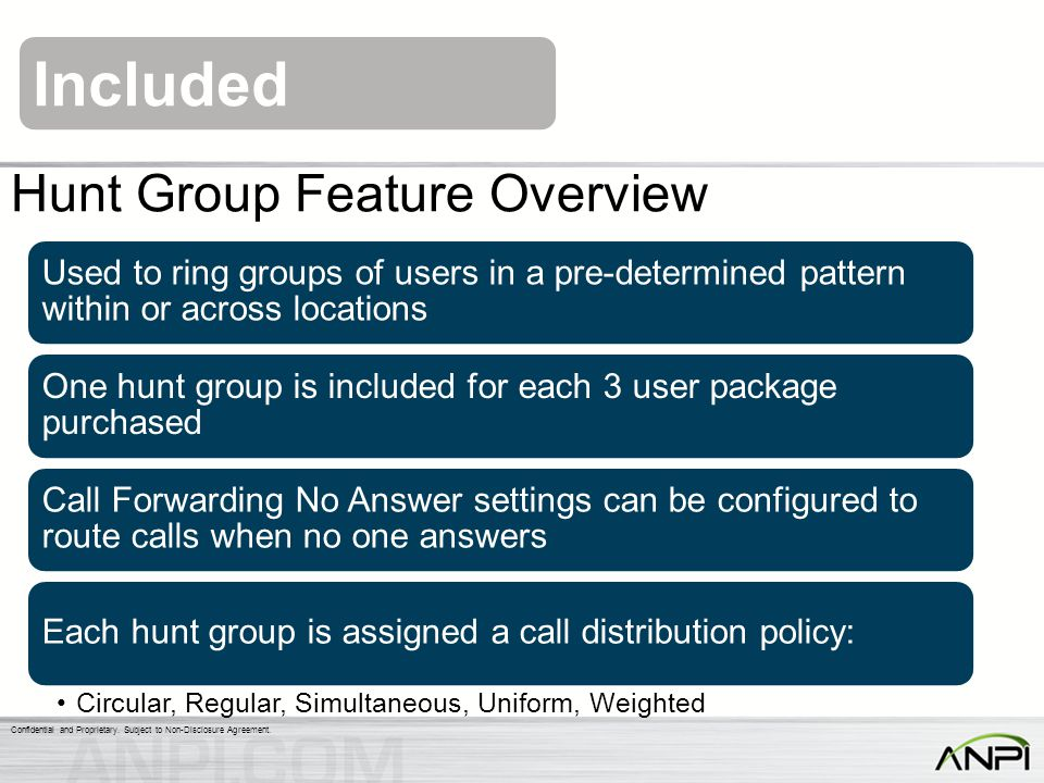 Hunt Group Feature Overview