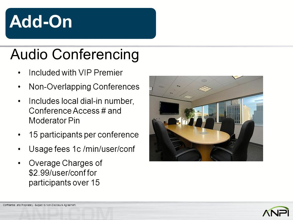 Audio Conferencing Included with VIP Premier