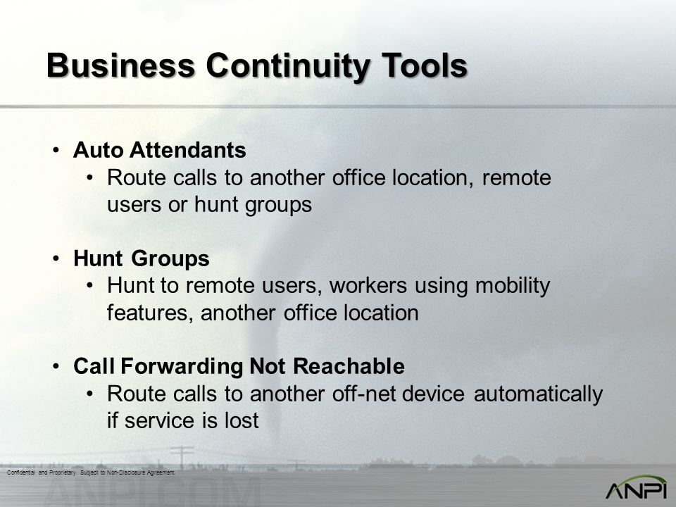Business Continuity Tools