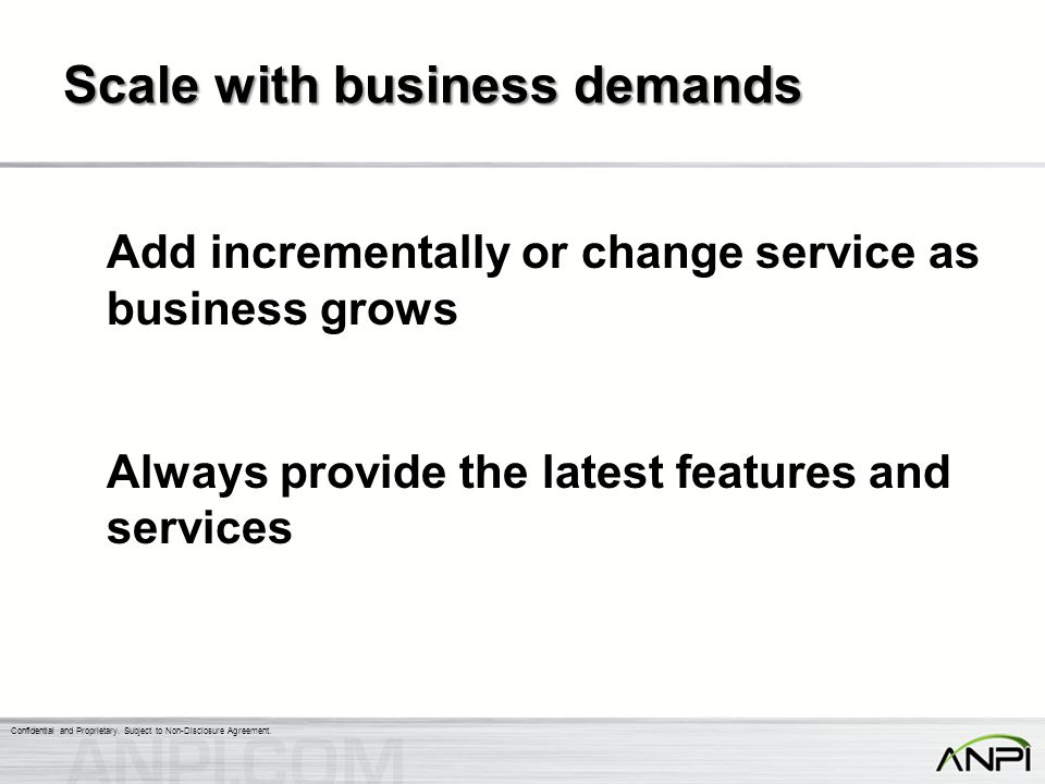 Scale with business demands