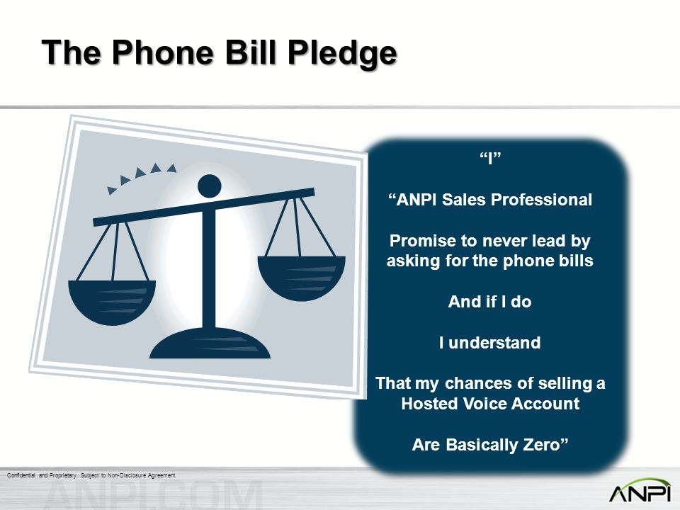The Phone Bill Pledge I ANPI Sales Professional