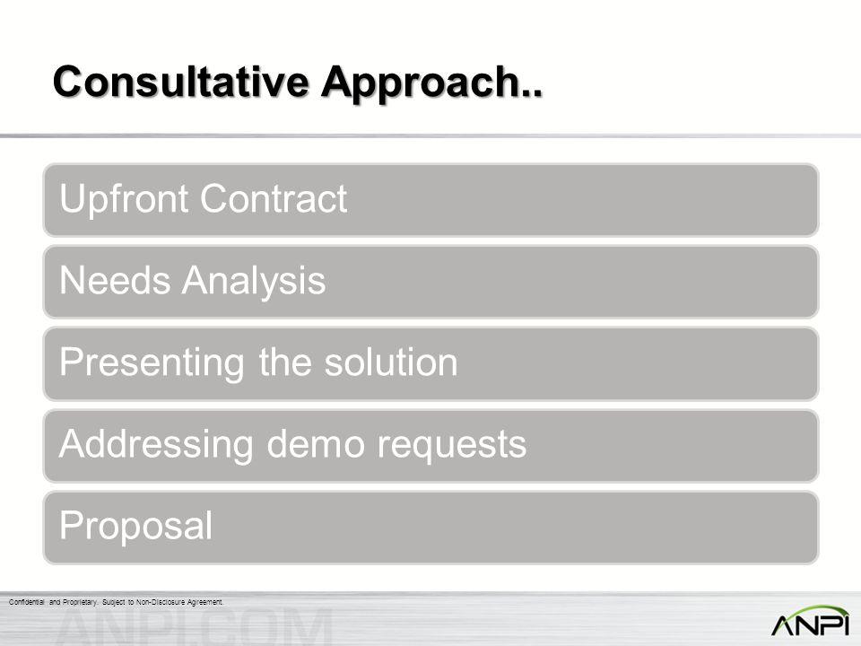 Consultative Approach..