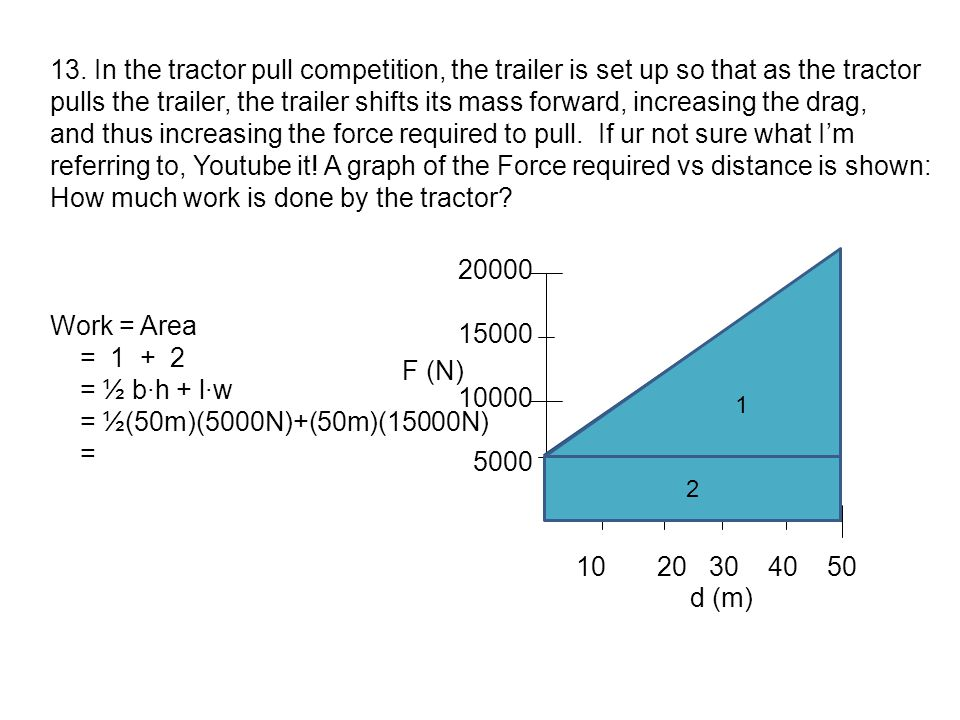 How much work is done by the tractor