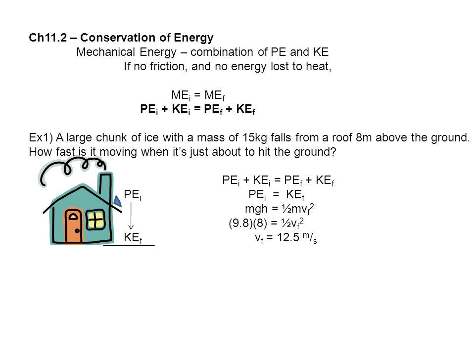 Ch11.2 – Conservation of Energy