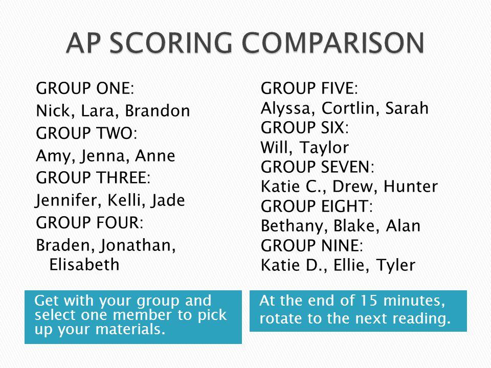 AP SCORING COMPARISON