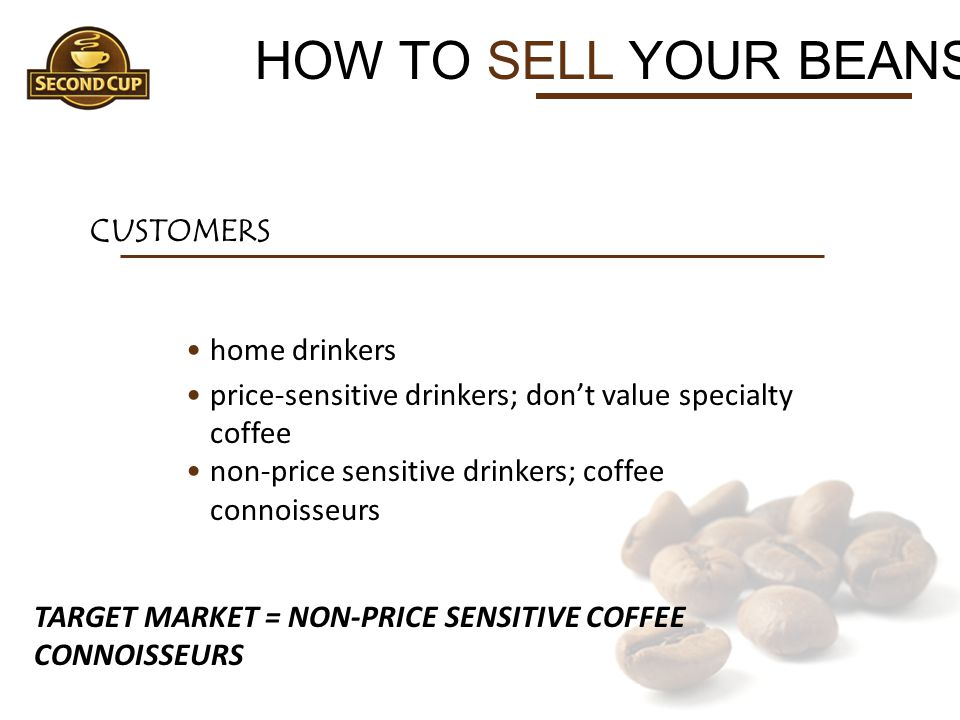 HOW TO SELL YOUR BEANS CUSTOMERS home drinkers