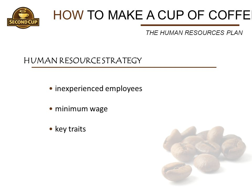 HOW TO MAKE A CUP OF COFFEE