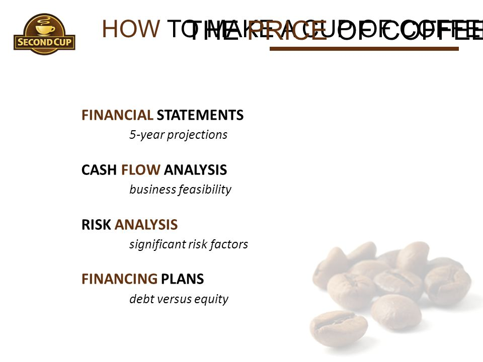 THE PRICE OF COFFEE HOW TO MAKE A CUP OF COFFEE FINANCIAL STATEMENTS