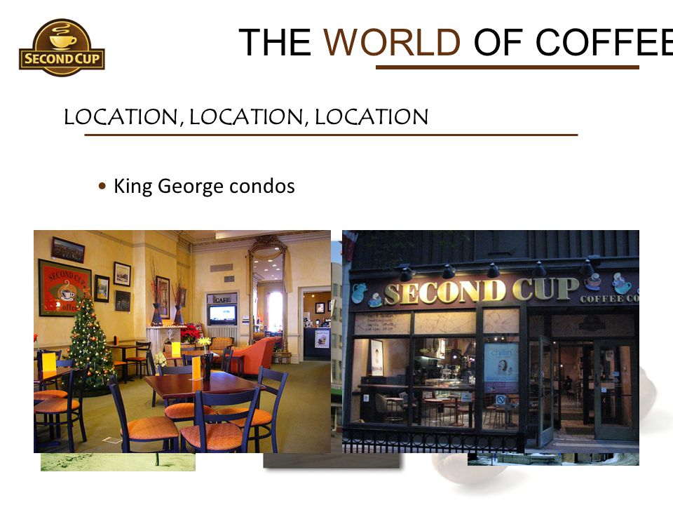 THE WORLD OF COFFEE LOCATION, LOCATION, LOCATION King George condos