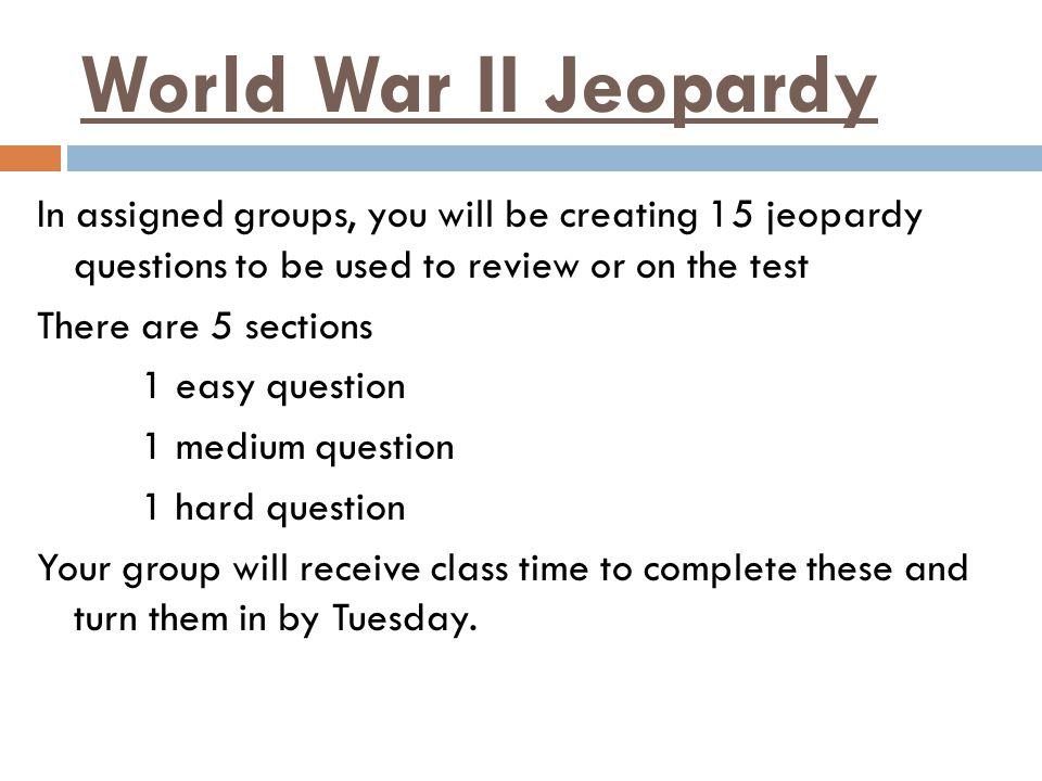 World War II Jeopardy