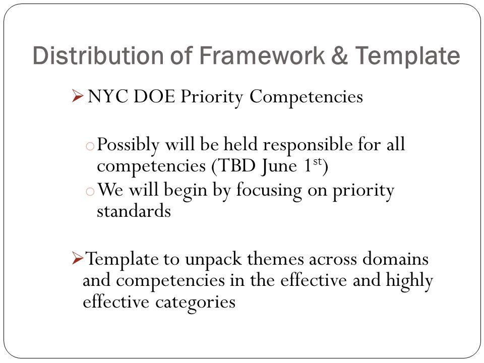 Distribution of Framework & Template