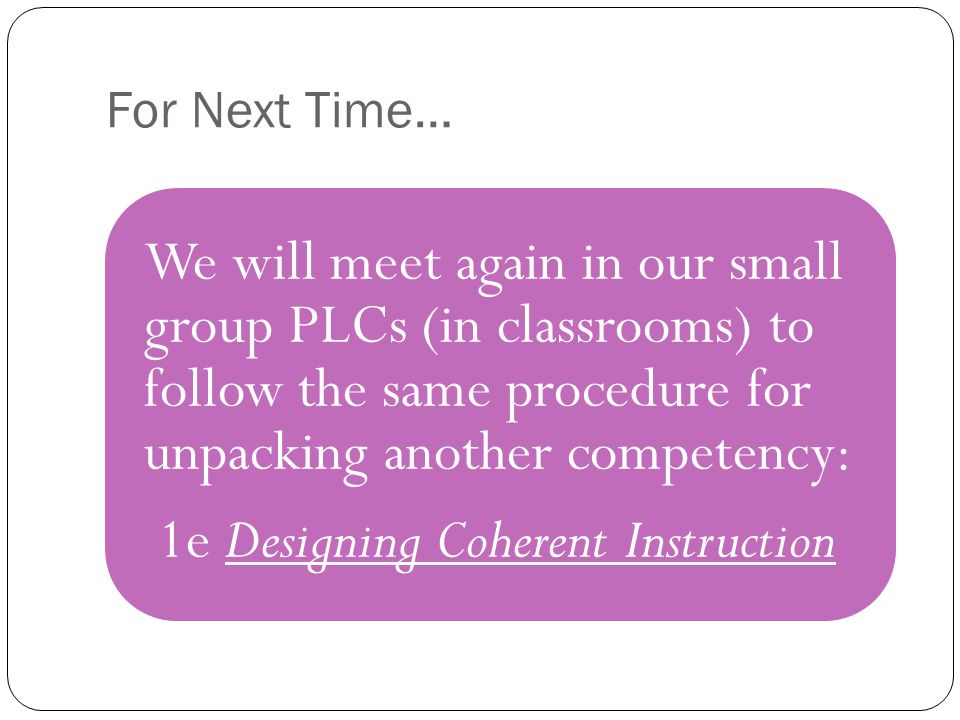 1e Designing Coherent Instruction