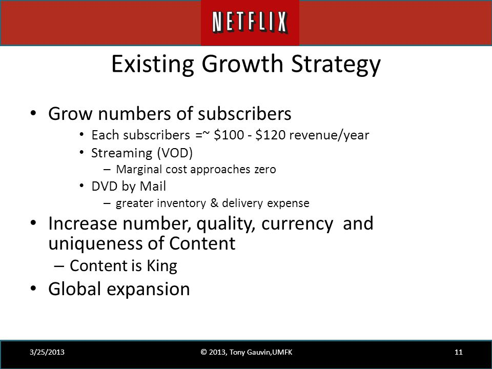 Existing Growth Strategy