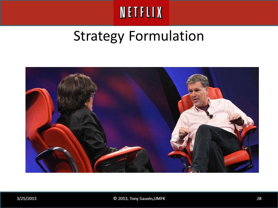 Strategy Formulation 3/25/2013 © 2013, Tony Gauvin,UMFK