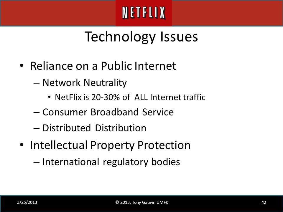 Technology Issues Reliance on a Public Internet